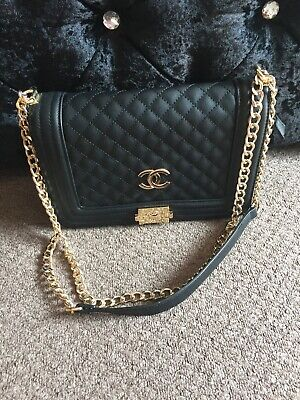 Black Quilted Across The Body / Shoulder Bag