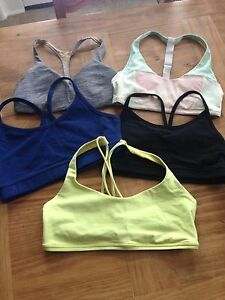 Lululemon size 4 BRAs all 5