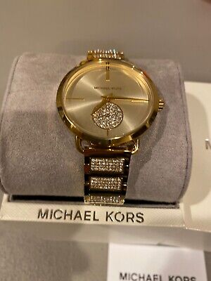 New Michael Kors MK3852 Portia Gold Dial Stainless Steel Two Tone Women's Watch
