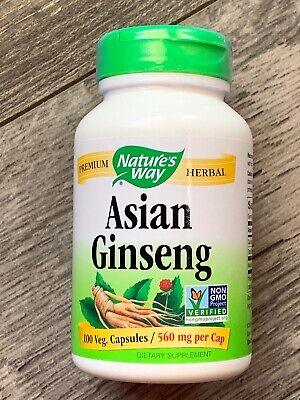 Nature's Way asian Korean Ginseng Root Chinese herb for vitality 100cap -