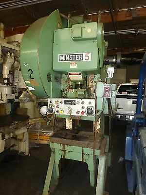 MINSTER #5 OBI PUNCH PRESS 45 TON Air Clutch & Brake