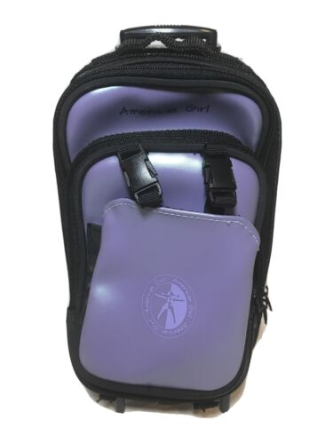 American Girl Retired Lavender Rolling Travel Luggage Suitca