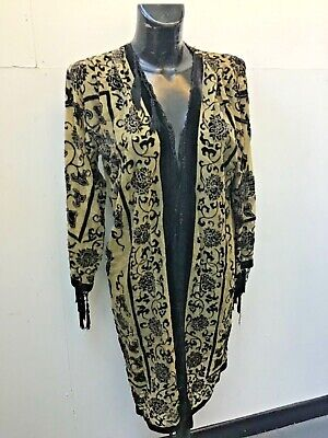 DEVORE SILK BLACK AND GOLD JACKET ONE SIZE UP TO UK 18