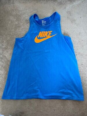 Blue Mens Nike Vest Large
