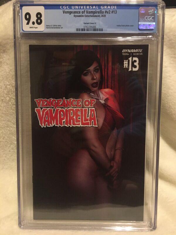 $$ Vengeance Of Vampirella v2 #13 Sexy Hailey Scott COSPLAY Cover CGC 9.8 $$