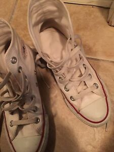 White Converse All Star high-top sneakers