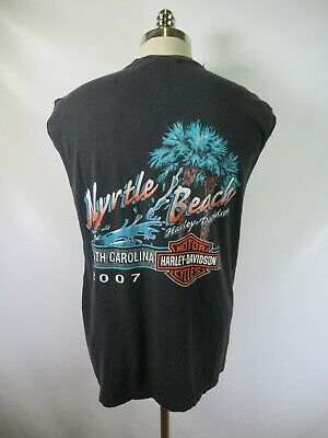 E7467 VTG HARLEY-DAVIDSON Motorcycle Biker MYRTLE BEACH Graphic T-Shirt L USA
