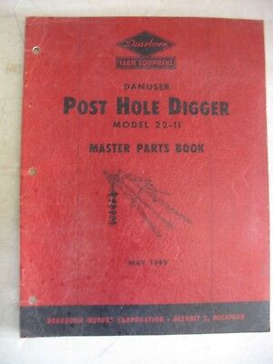 1949 Original Ford Dearborn Post Hole Digger Master Parts Book Model 22-11