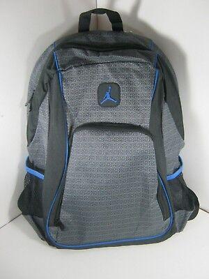 dd26514e85ca NIKE JORDAN Jumpman Backpack Black Gray LAPTOP Sleeve Bag 9A1223 NEW