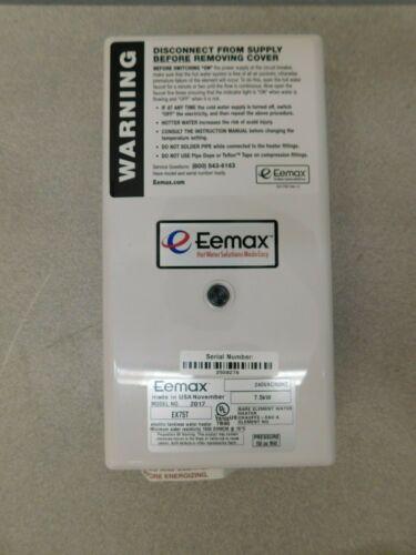 Eemax 240 Volt Electric Water Heater 7.5 KW 32 Amp 8 Wire Gauge EX75T