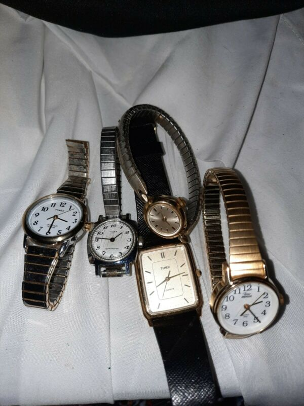 5 Piece Timex Watches For Parts