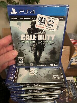 PS4 Call of Duty Modern Warfare Remastered - Playstation 4 PS4 SEALED