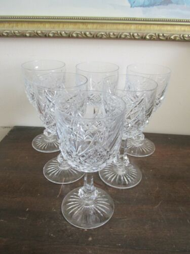 Baccarat France Crystal Colbert Set Of 6 Wine Glasses 5 1/8""