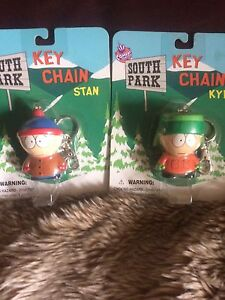"""Vintage 98' South Park Key Chain Toys """"Kyle and Stan"""""""