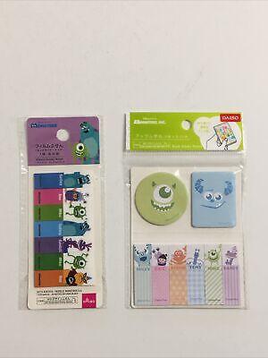 2 Packs Daiso Disney Pixar Monsters Inc Sticky Notes Paper Plastic