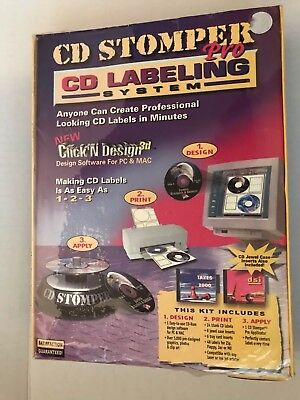 Cd Stomper Pro Cd Labeling System Brand New Sealed Package