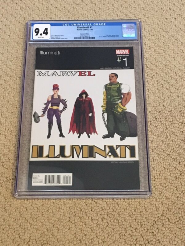 Illuminati 1 CGC 9.4 White Pages (Hip Hop Variant!!)