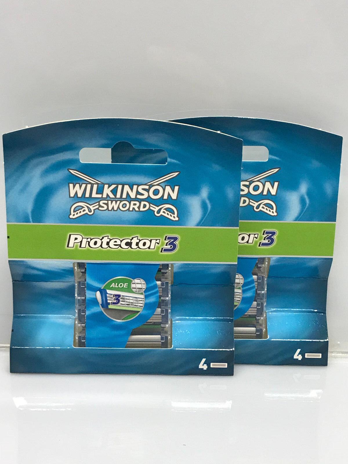 16 x Wilkinson Sword Protector 3 Rasierklingen Neu OVP