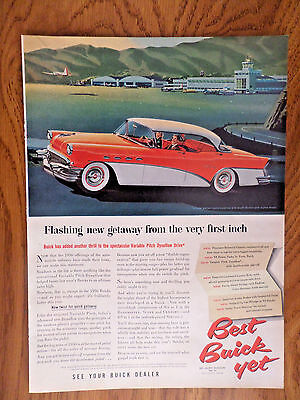 1956 Buick Century Sedan Ad Flashing New Getaway from the Very First Inch