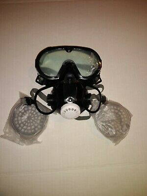 New Full Face Respirator Gas Mask Facepiece Spraying Painting Chemical Safety