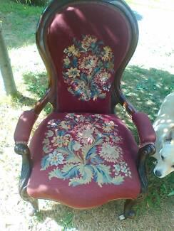 Cedar Ladies Chair. Fine needlework upholstery.