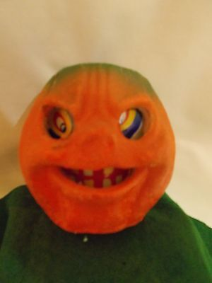 "USA Halloween 4-1/2"" JOL / Pumpkin w/paper insert Lantern Candy Container #3"