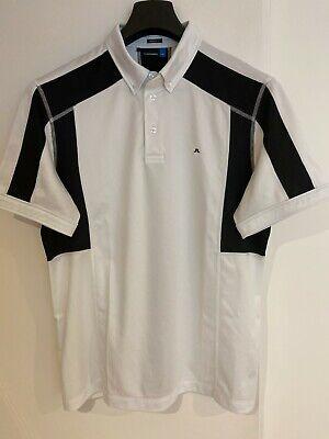 J.Lindeberg Golf shirt Mens Large Regular Fit White/Black.