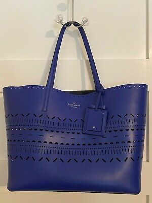 Kate Spade Harmony Lillian Court Large Blue Tote