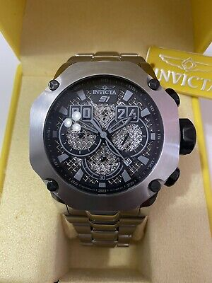 Invicta S1 Rally Mens Watch Model 19428 Metal Silver-Tone 52mm Chrono Dial SS