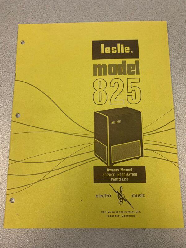 Vintage 1972 Leslie Organ Speaker Model 825 Owners Service Manual