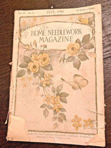 Home Needlework Magazine July 1901 Volume III No 3 Purses Chatelaine Crochet