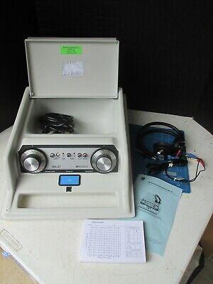 Maico Diagnostics Ma-27 Screening Audiometer With Headphones Manuel Missing Knob
