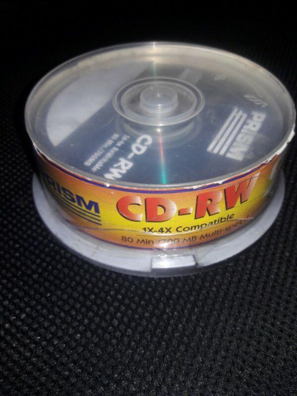 Brand NEW Prism CD-RW 700mb 80 min 4x speed.