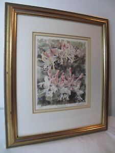 Honeysuckle  Framed Picture Signed & Numberd Print by Glyn Martin