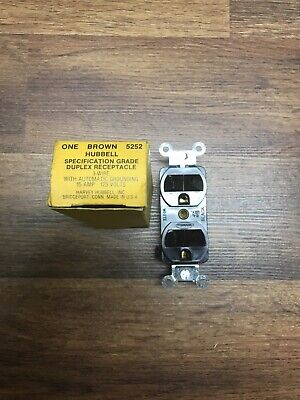 Hubbell 5252 125 Volt 15 Amp Specification Grade Receptacle Outlet