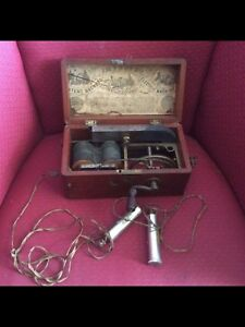 Very old electrical current generator for medical remedy