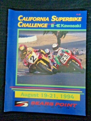 1994 Kawasaki CALIFORNIA SUPERBIKE CHALLENGE Sears Point Raceway Motorcycle Race