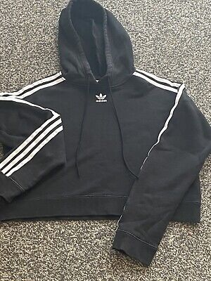 Black Adidas Cropped Jumper