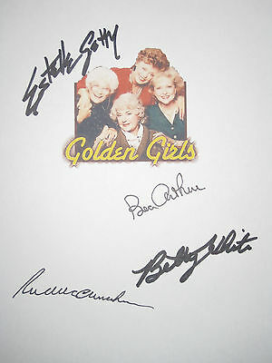 The Golden Girls Signed Pilot TV Script X4 McClanahan Betty White Arthur reprint