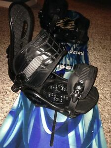 burton board with option bindings