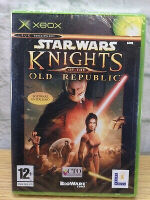 ORIGINAL XBOX Star Wars Knights Of The Old Republic NEW FACTORY SEALED - ITALIAN