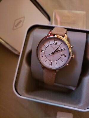 Fossil Q Women's JACQUELINE Hybrid Bluetooth Smart Watch w/ LEATHER BAND FTW5013