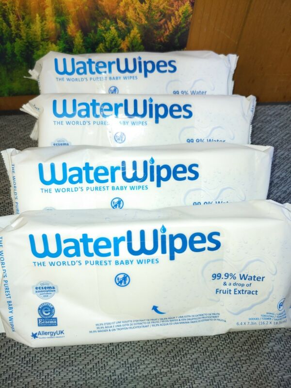 WaterWipes Unscented Baby Wipes, 4 Packs 240 Packs