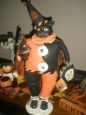"LARGE 20"" Bethany Lowe Halloween Cat Figurine - VERY RARE!"