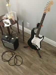 Fender squier strat and amp