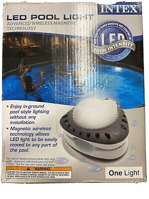 Intex Magnetic LED Above Ground Swimming Pool Wall  Light 28687e