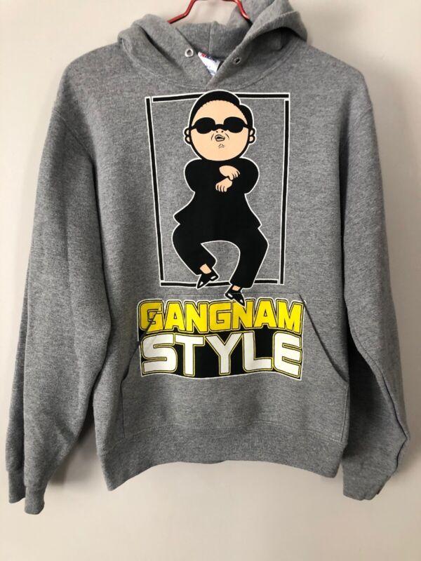 "Psy ""Gangnam Style"" Gray Hoodie Sweatshirt Size Adult Small"