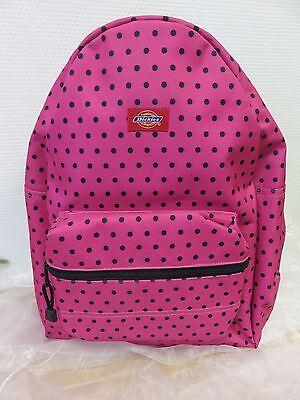 Dickies-rucksack Schwarz (Dickies * Rucksack - Pink/Schwarz - Punkte )