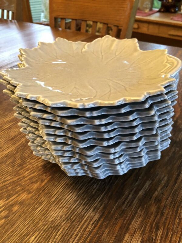 "VINTAGE Woodfield STEUBENVILLE Lot 12 Salad/Dessert Plates 8 3/4"" DOVE GRAY"