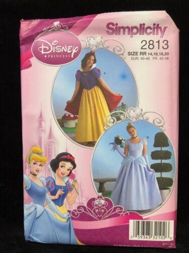 Simplicity Sewing Pattern 2813 Disney Princess Misses Size RR 14-20